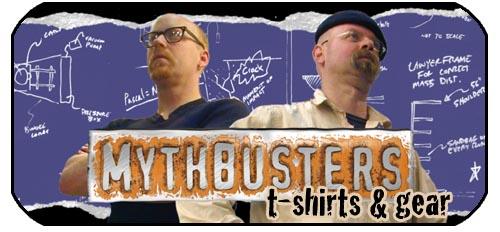 mythbusters t-shirts