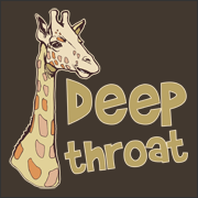 Deep Throat T-shirt Giraffe