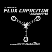 Flux Capacitor funny t-shirt movie time travel auto mechanic geek