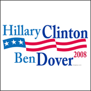 hillary clinton ben dover 2008 election t-shirt