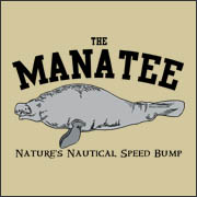 The Manatee Nature's Nautical Speed Bump Funny Boating  t-shirt