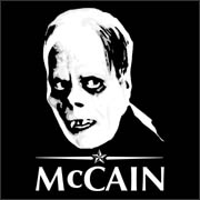 Phantom McCain - funny pro-obama anti-mccain t-shirt