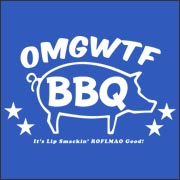 OMGWTFBBQ funny internet facebook myspace t-shirt