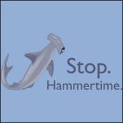 Stop. Hammertime. - funny shark t-shirt